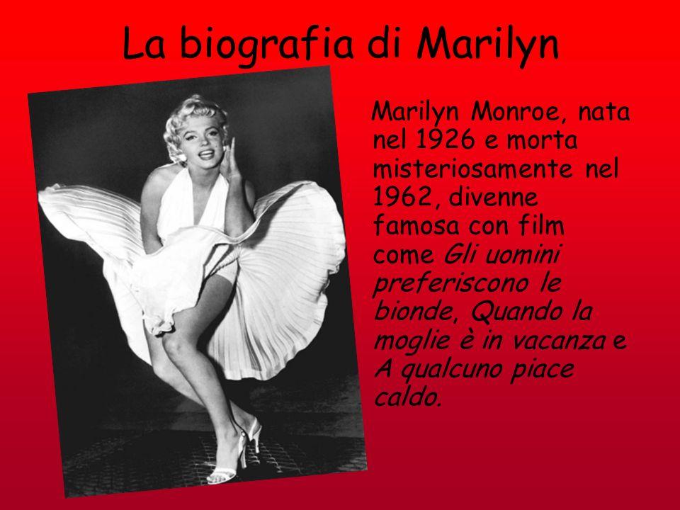 La biografia di Marilyn