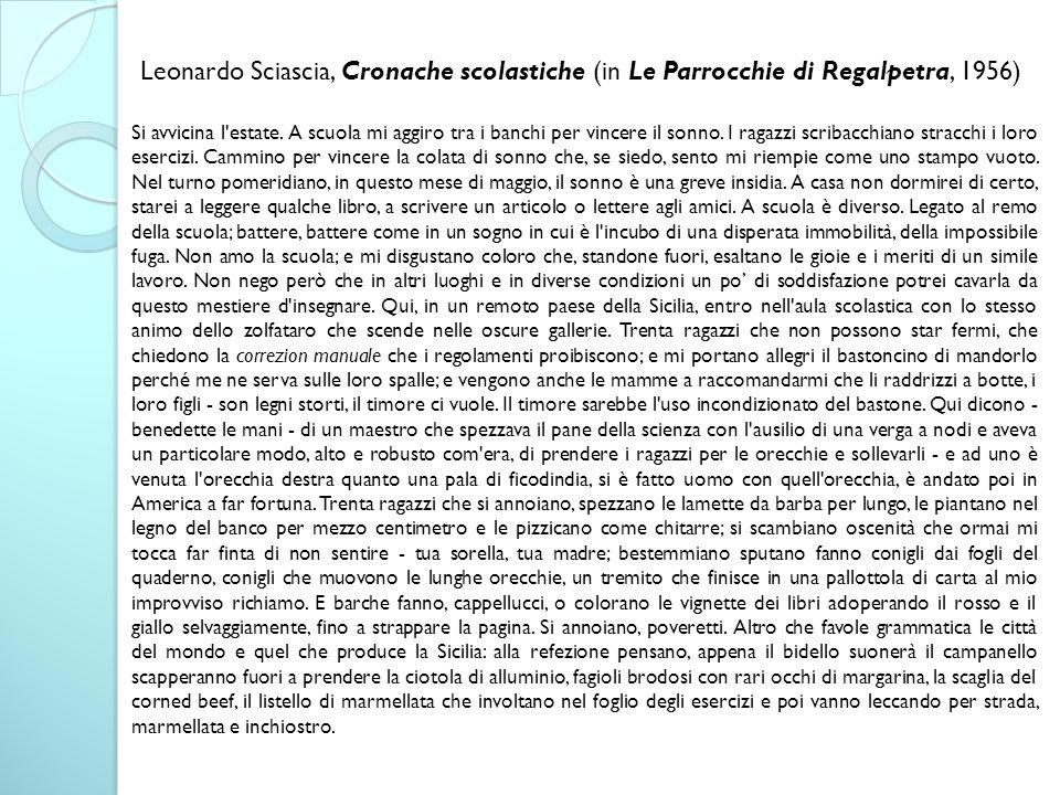 Leonardo Sciascia, Cronache scolastiche (in Le Parrocchie di Regalpetra, 1956)