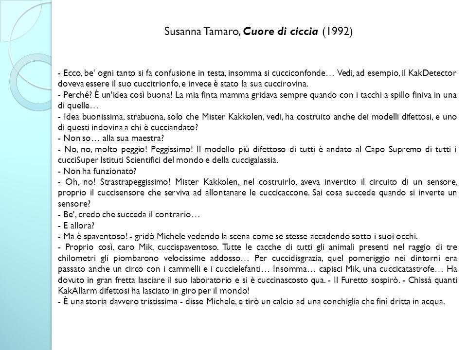 Susanna Tamaro, Cuore di ciccia (1992)