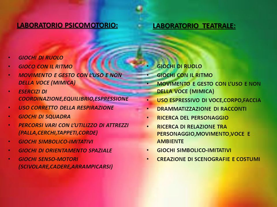 LABORATORIO PSICOMOTORIO: