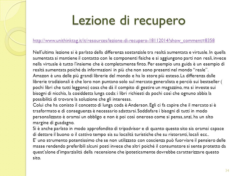 Lezione di recupero http://www.unithinktag.it/it/resources/lezione-di-recupero-18112014 show_comment=8358.