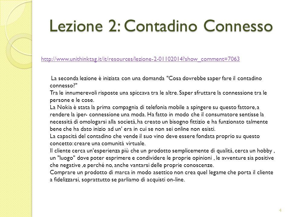 Lezione 2: Contadino Connesso