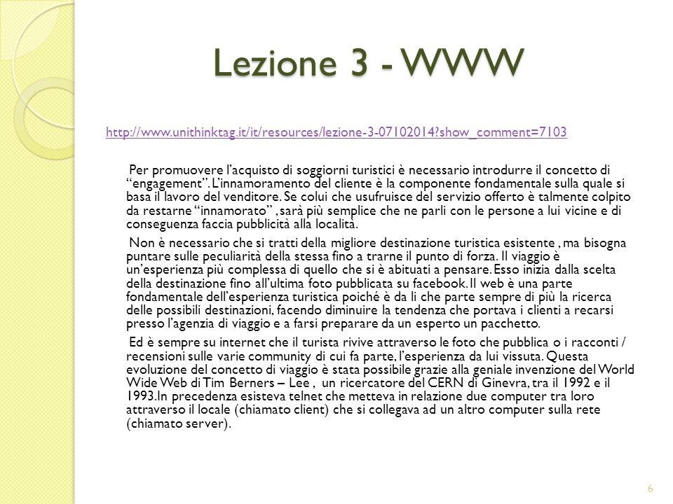 Lezione 3 - WWW