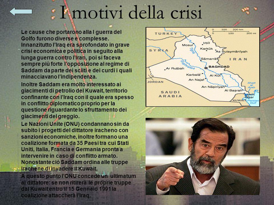 I motivi della crisi