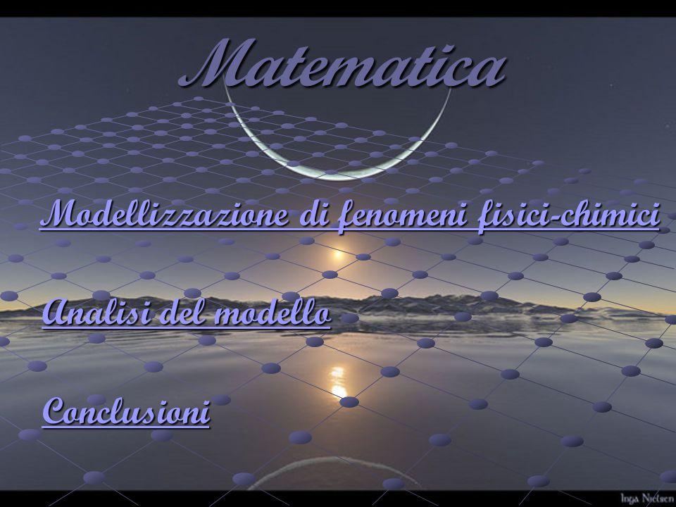Matematica Modellizzazione di fenomeni fisici-chimici