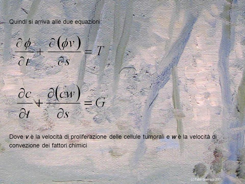 Quindi si arriva alle due equazioni: