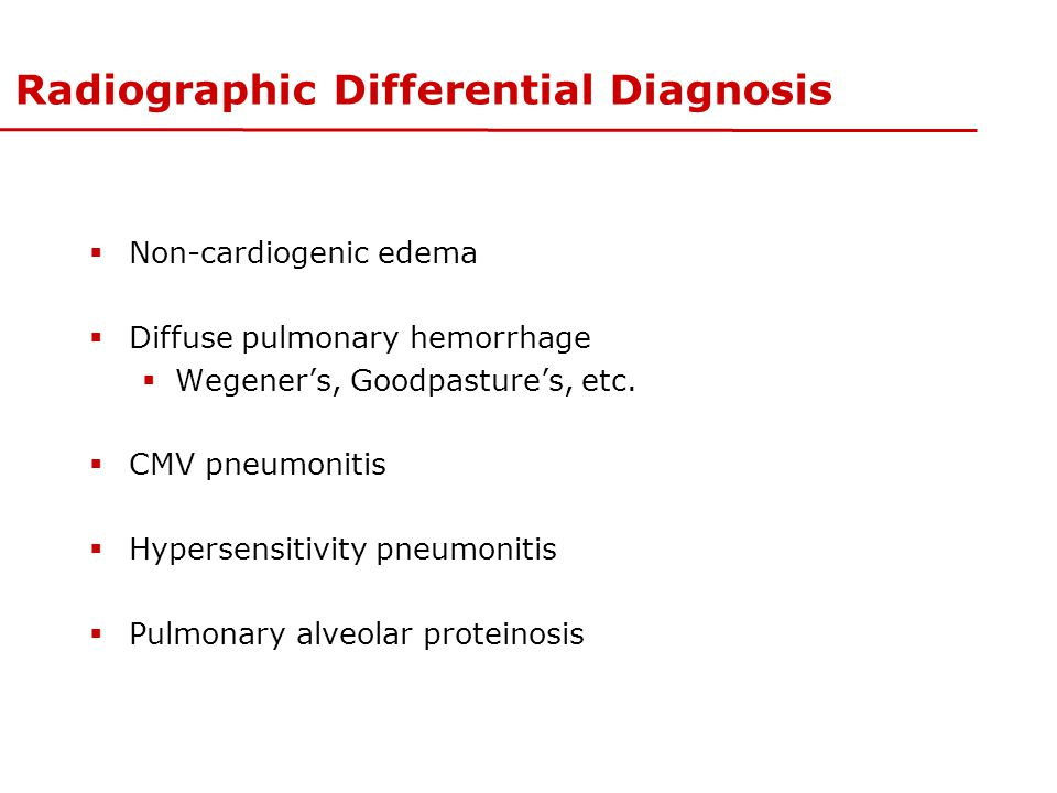 Radiographic Differential Diagnosis