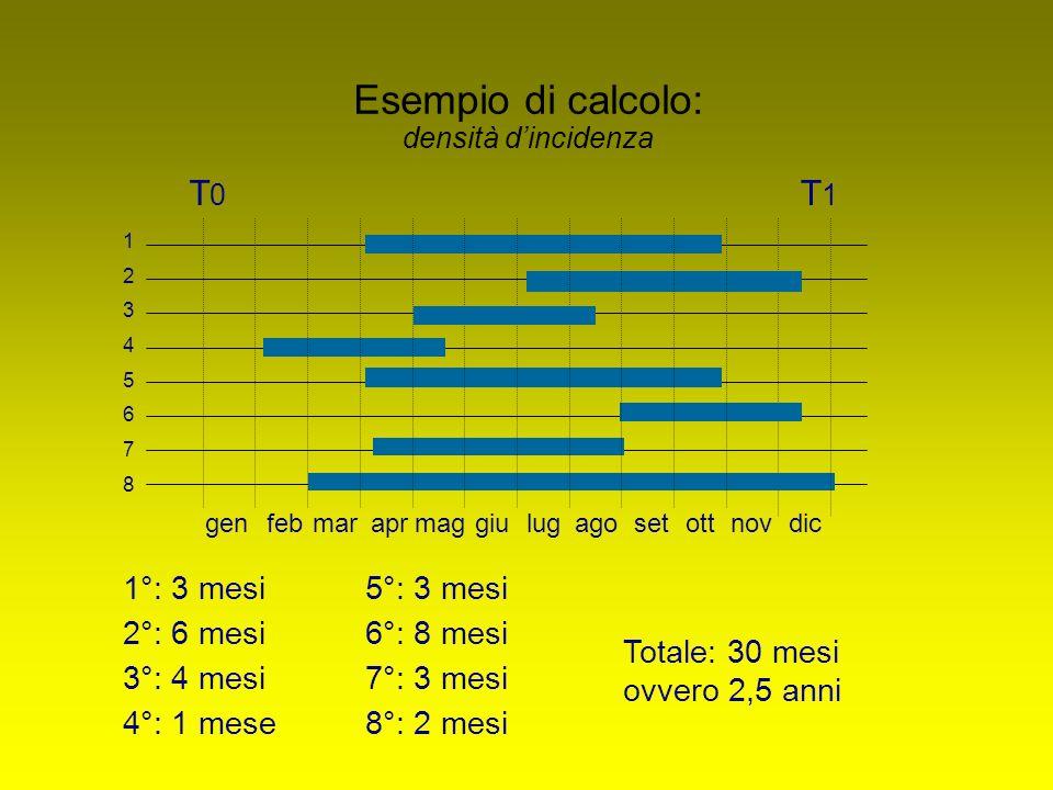 Esempio di calcolo: densità d'incidenza