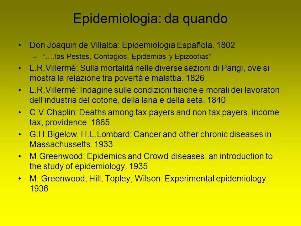 Epidemiologia: da quando