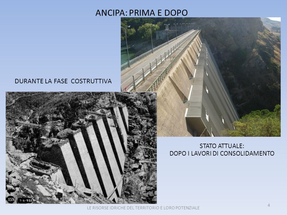 ANCIPA: PRIMA E DOPO DURANTE LA FASE COSTRUTTIVA STATO ATTUALE: