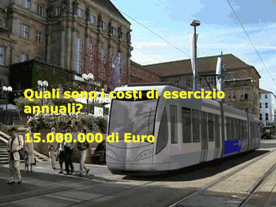 Quali sono i costi di esercizio annuali 15.000.000 di Euro