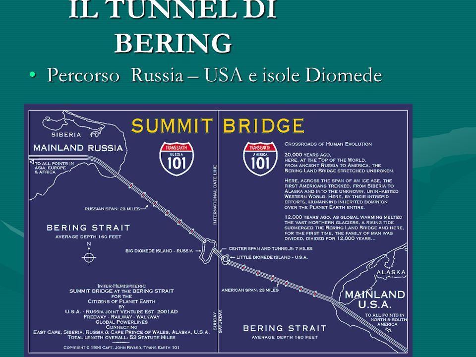 IL TUNNEL DI BERING Percorso Russia – USA e isole Diomede