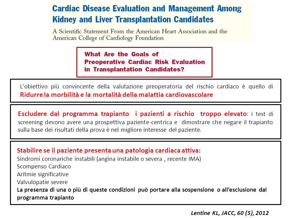 Stabilire se il paziente presenta una patologia cardiaca attiva: