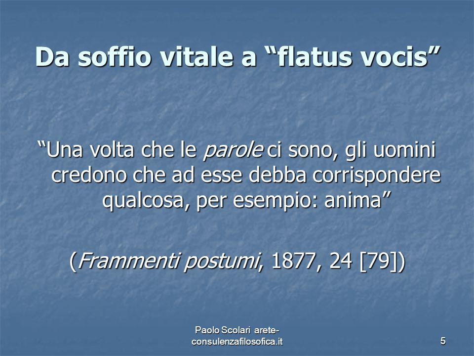 Da soffio vitale a flatus vocis