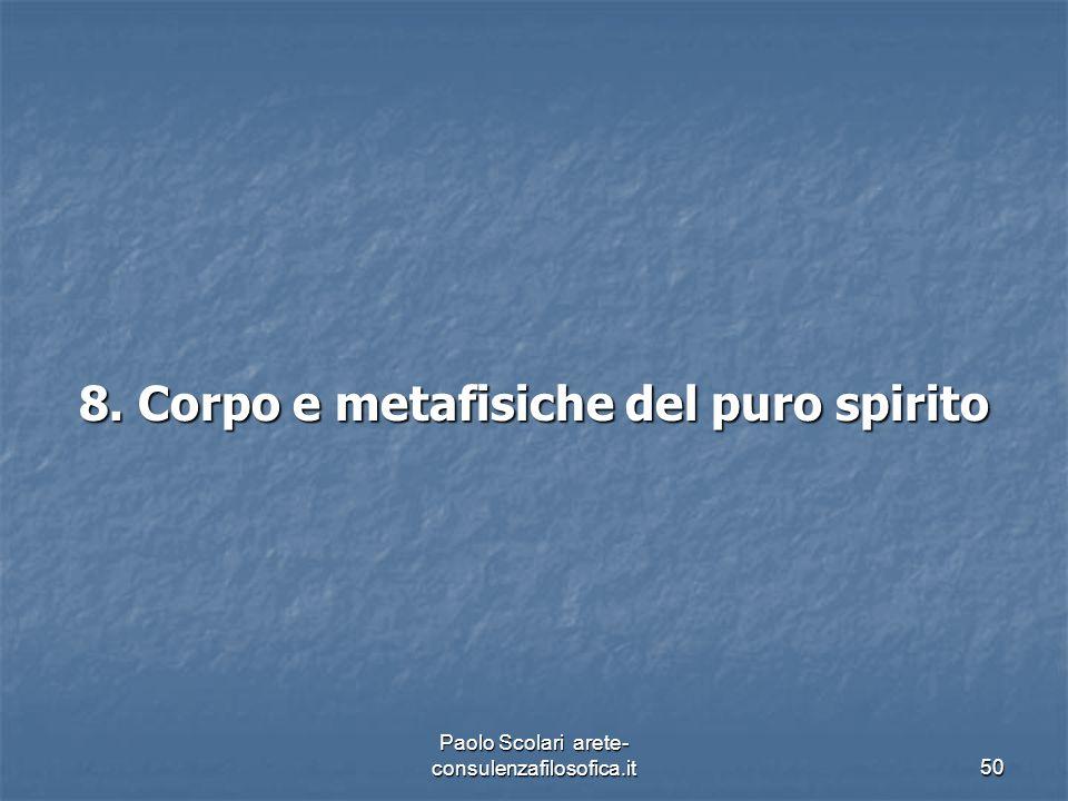 8. Corpo e metafisiche del puro spirito