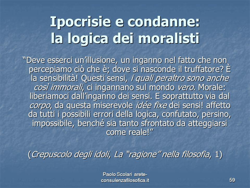 Ipocrisie e condanne: la logica dei moralisti