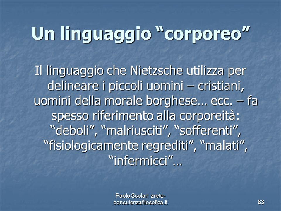 Un linguaggio corporeo