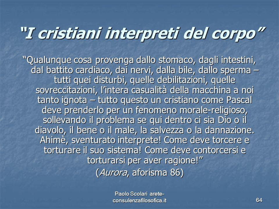 I cristiani interpreti del corpo
