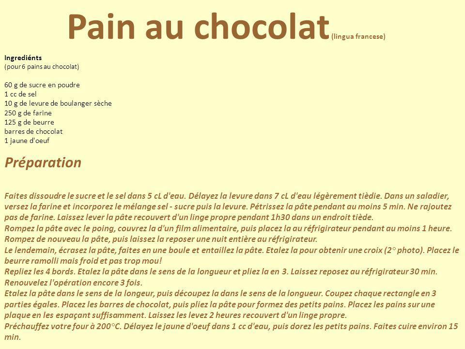 Pain au chocolat (lingua francese)