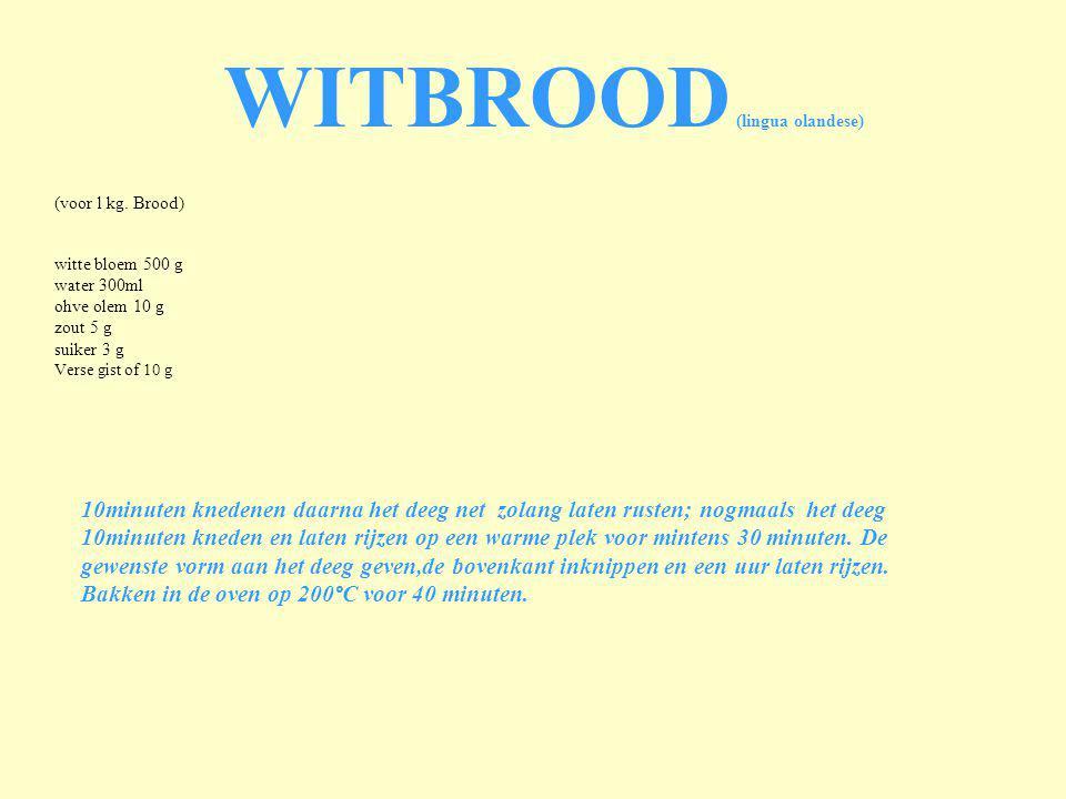 WITBROOD (lingua olandese)