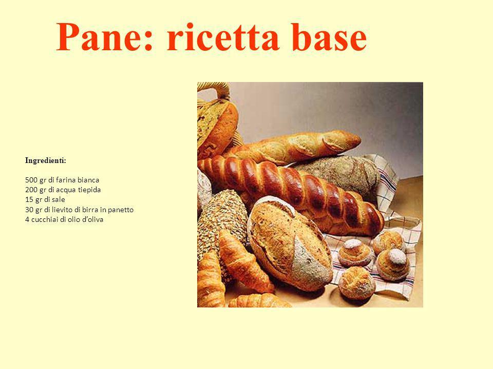 Pane: ricetta base Ingredienti: 500 gr di farina bianca