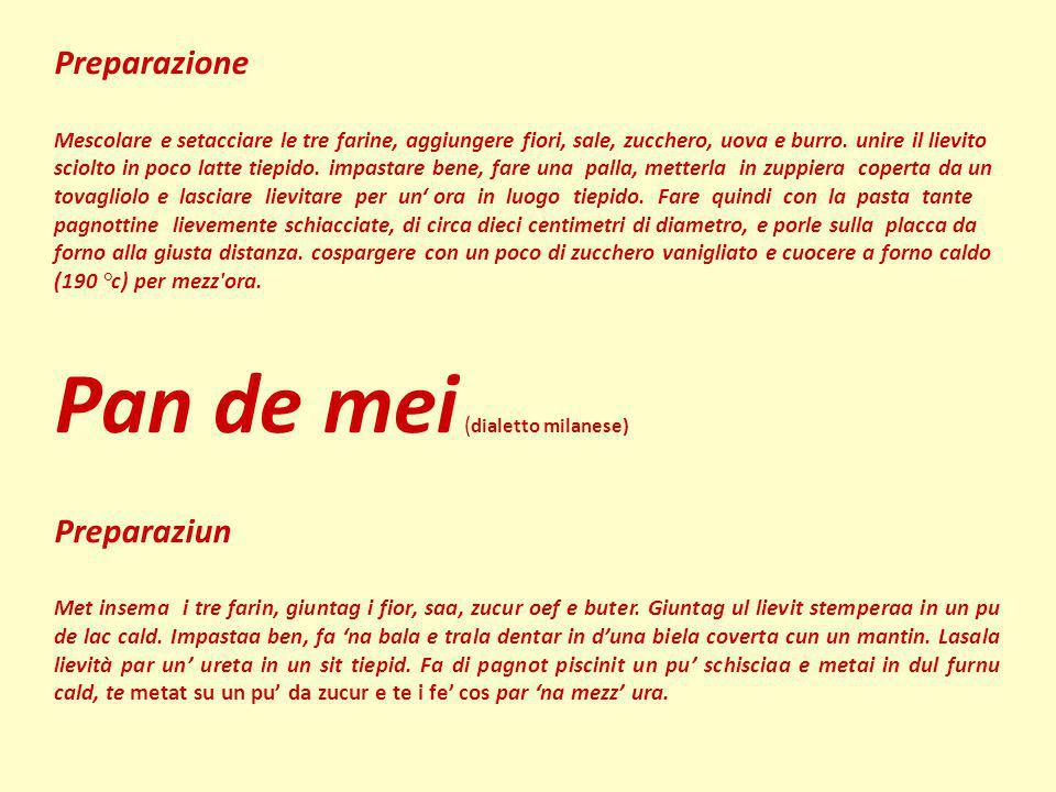 Pan de mei (dialetto milanese)