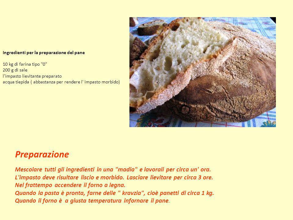 Ingredienti per la preparazione del pane