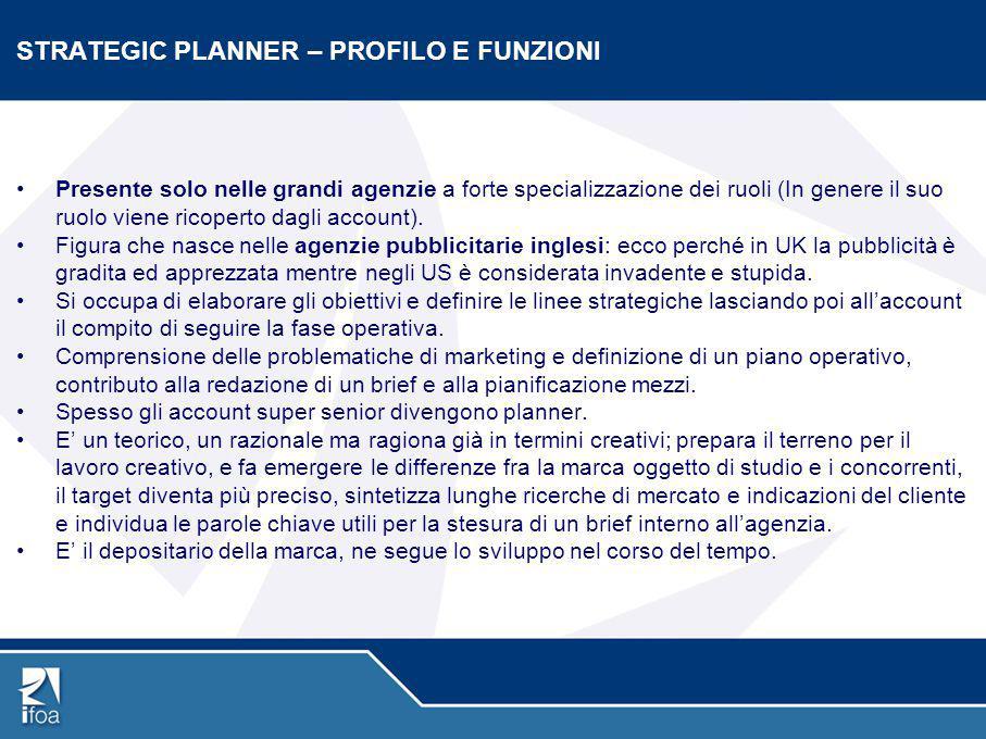 STRATEGIC PLANNER – PROFILO E FUNZIONI