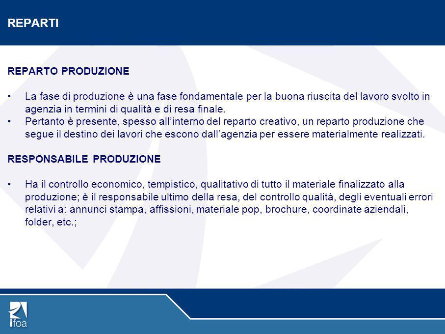REPARTI REPARTO PRODUZIONE