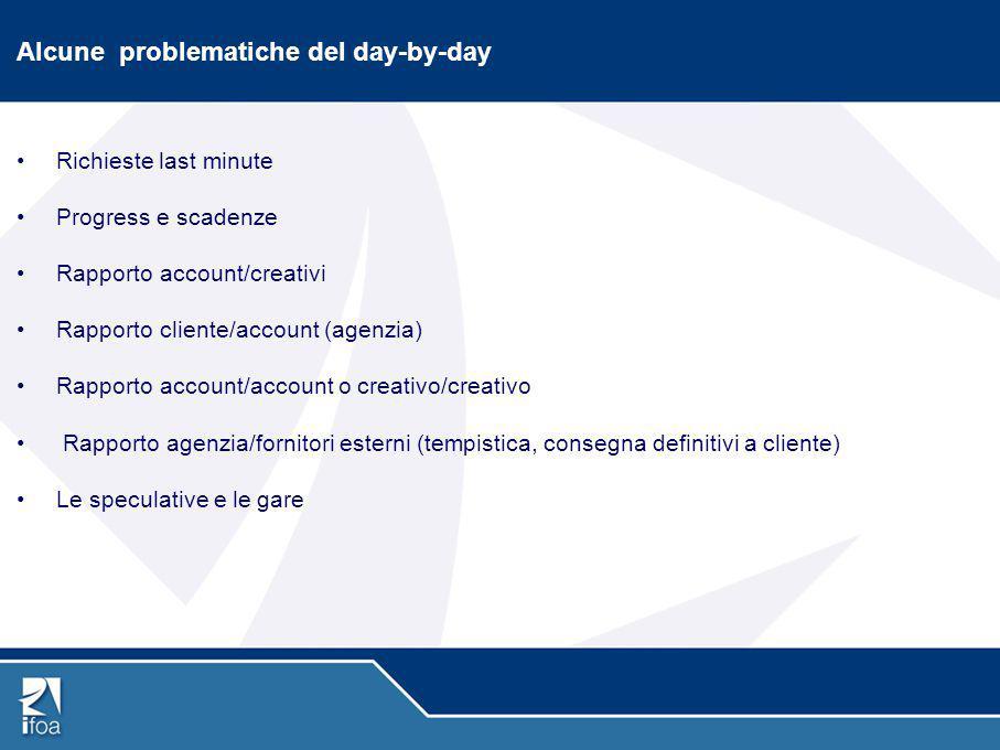 Alcune problematiche del day-by-day