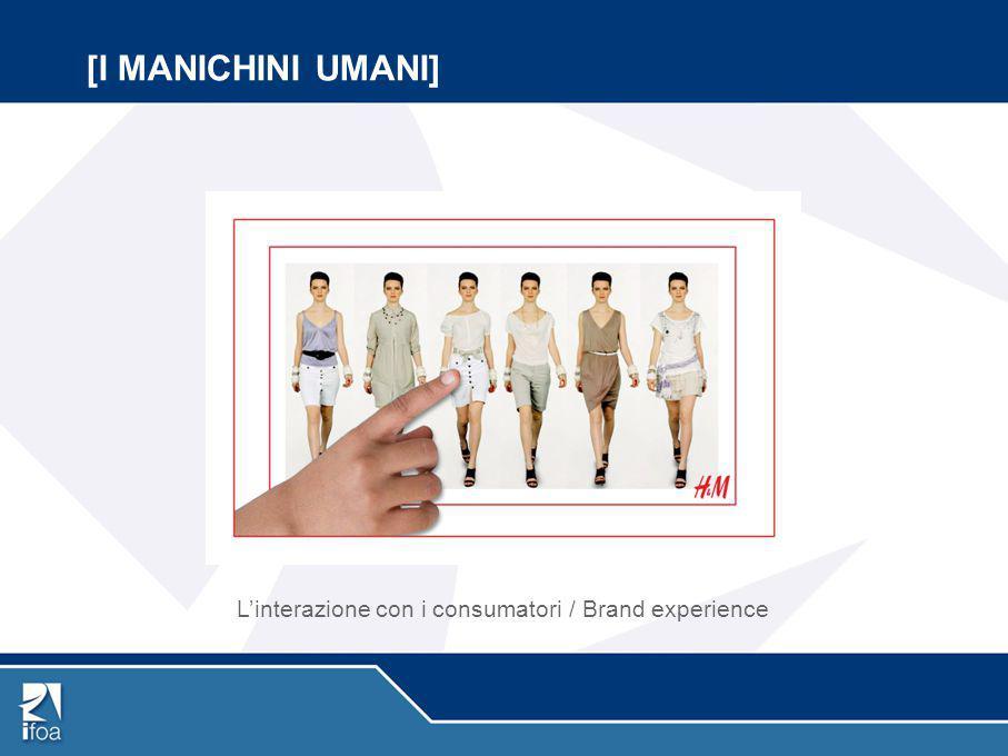 L'interazione con i consumatori / Brand experience