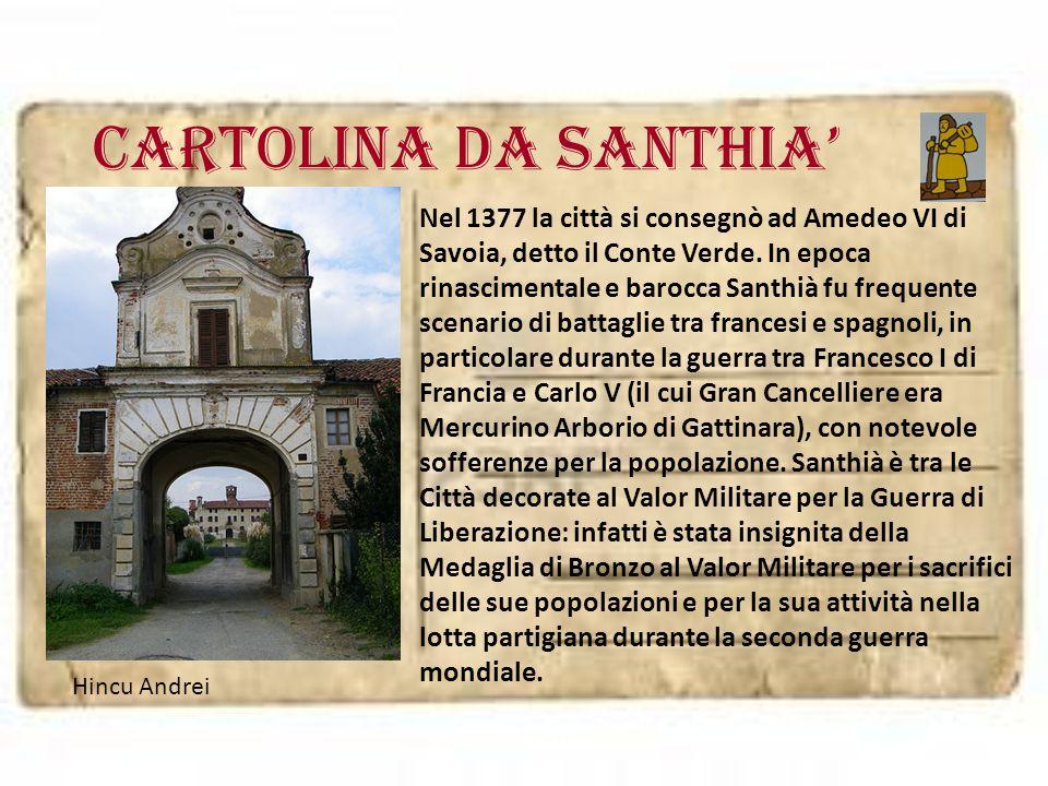 Cartolina da SANTHIA'