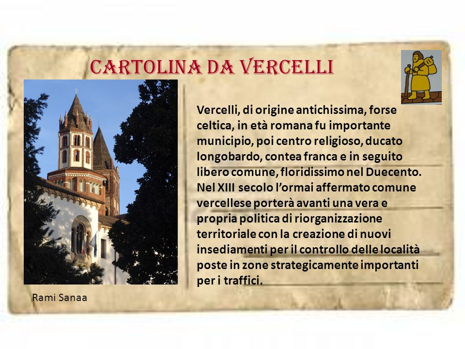 Cartolina da VERCELLI
