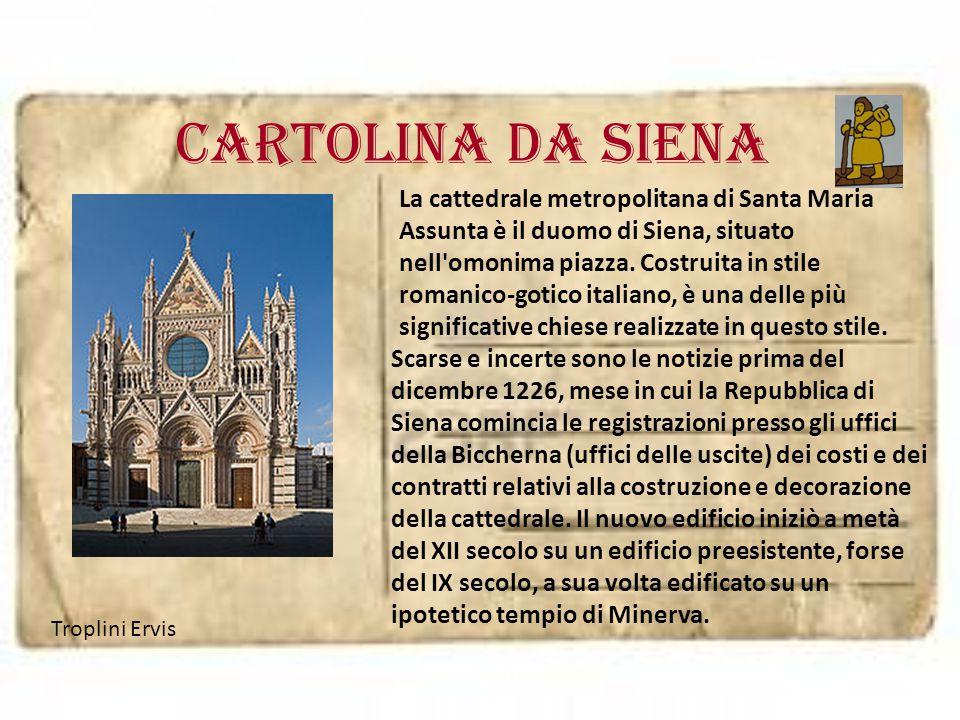 cartolina da SIENA