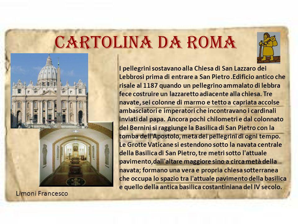 Cartolina da roma Limoni Francesco