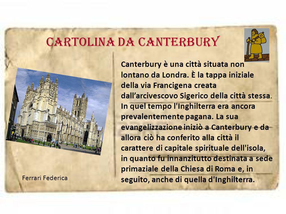 cartolina da canterbury