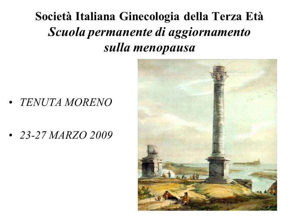 Società Italiana Ginecologia della Terza Età Scuola permanente di aggiornamento sulla menopausa