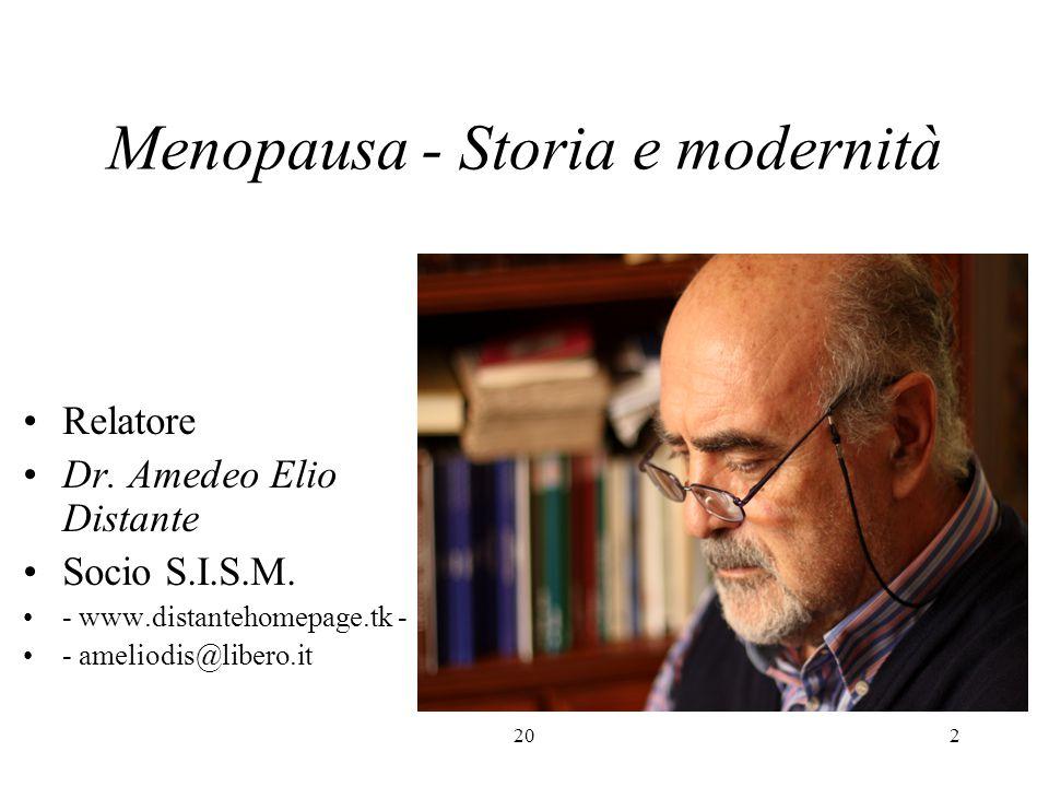 Menopausa - Storia e modernità