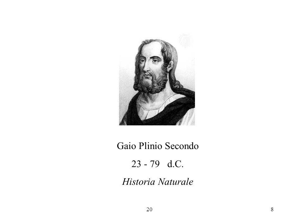 Gaio Plinio Secondo 23 - 79 d.C. Historia Naturale 20