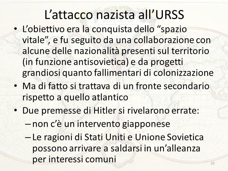 L'attacco nazista all'URSS