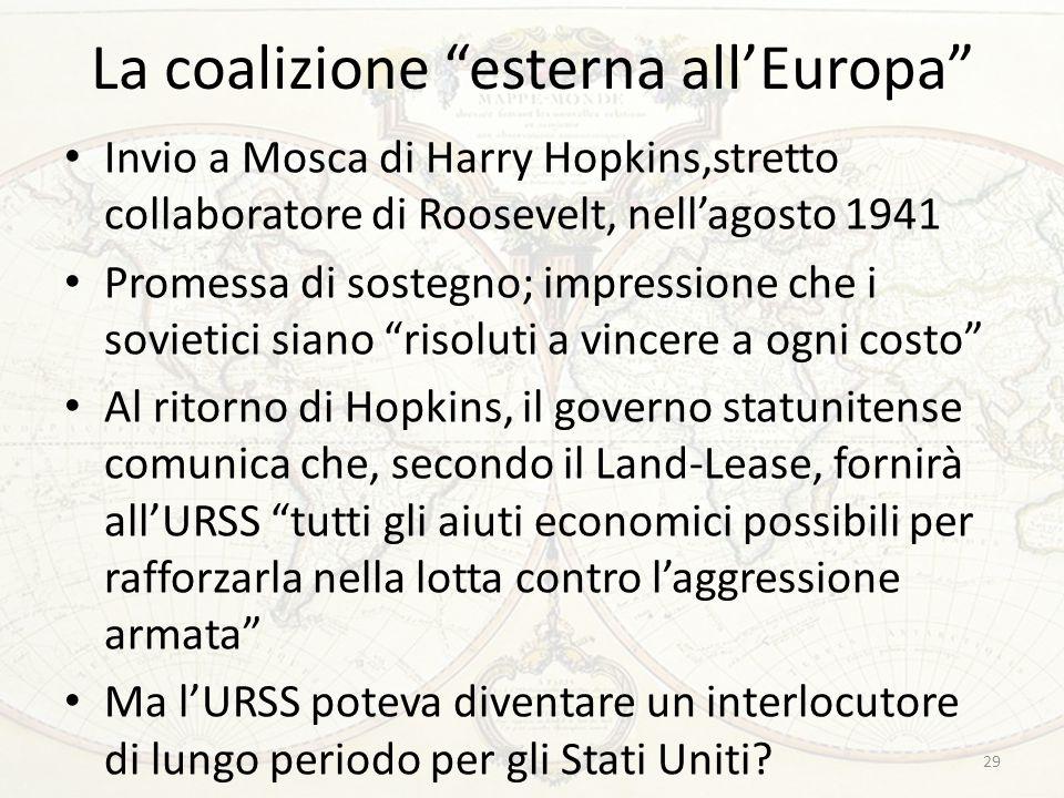 La coalizione esterna all'Europa