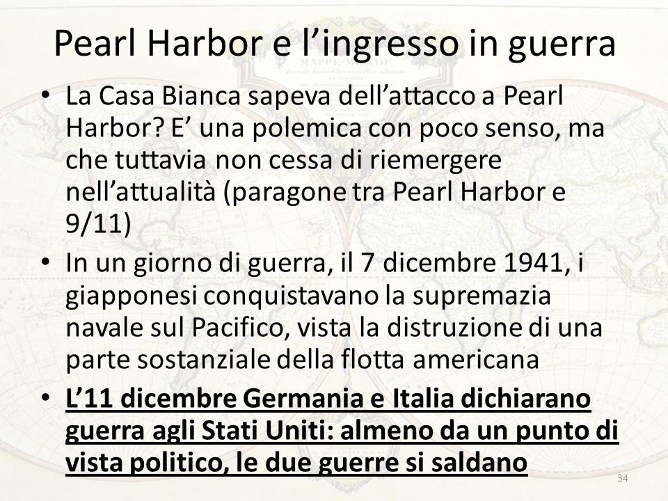 Pearl Harbor e l'ingresso in guerra