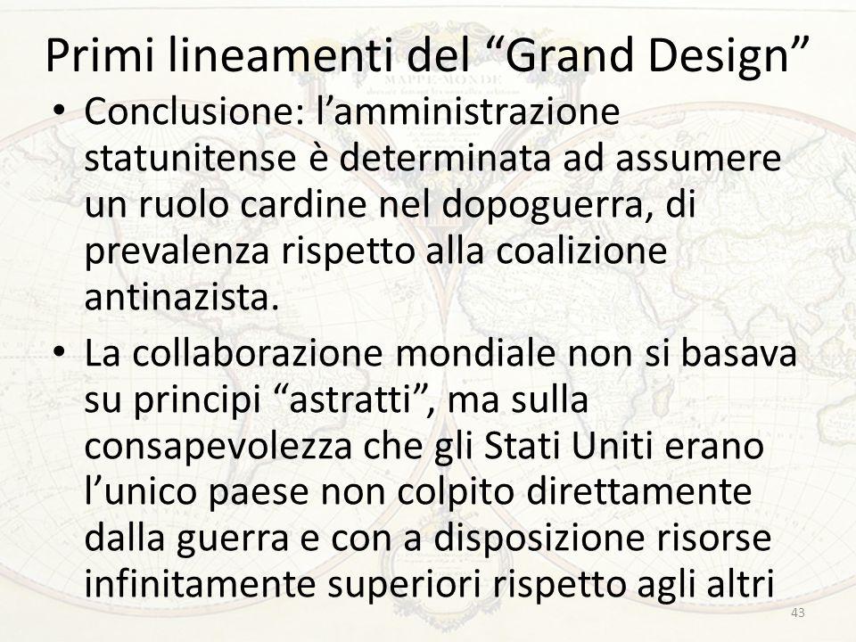 Primi lineamenti del Grand Design