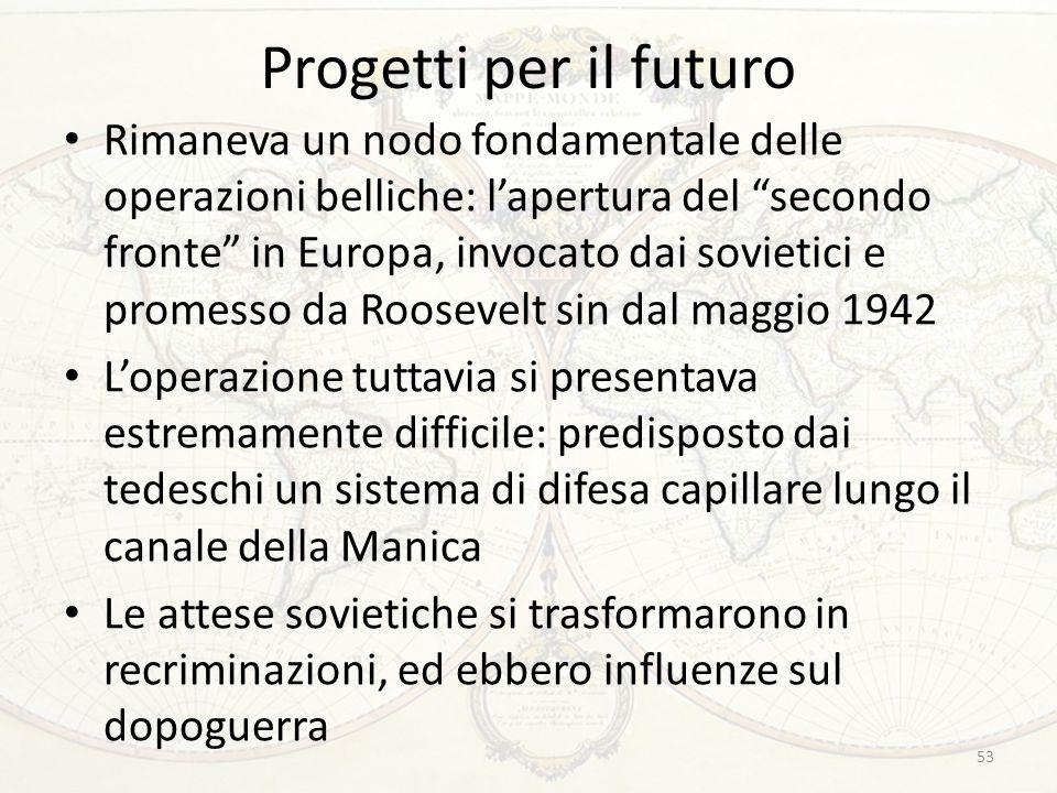 Progetti per il futuro