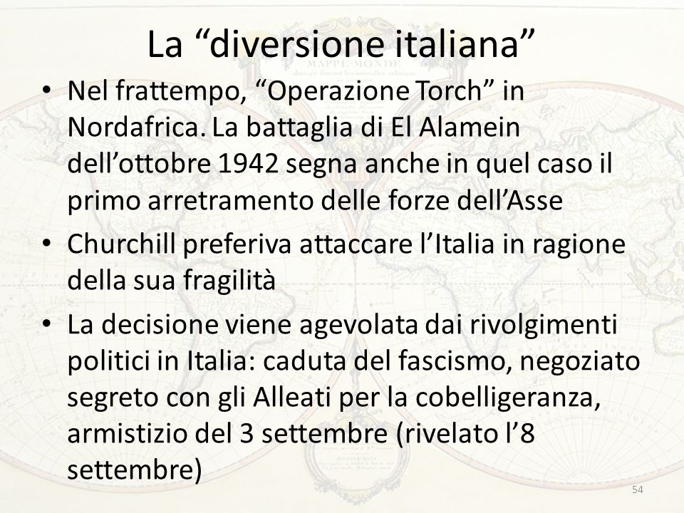 La diversione italiana