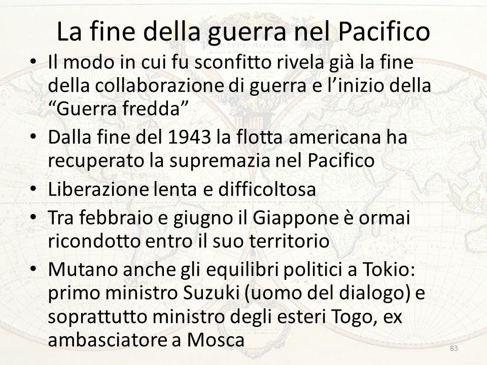 La fine della guerra nel Pacifico