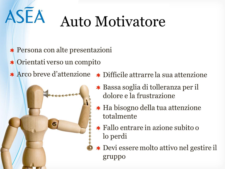 Auto Motivatore Persona con alte presentazioni