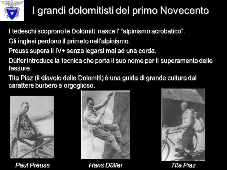 I grandi dolomitisti del primo Novecento