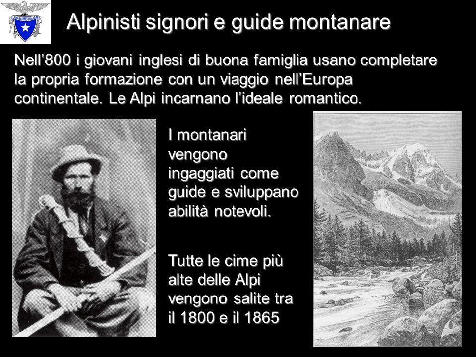 Alpinisti signori e guide montanare