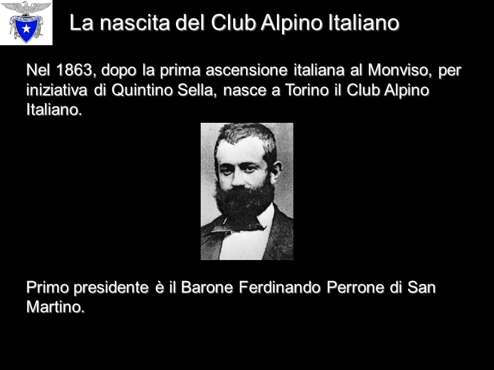La nascita del Club Alpino Italiano